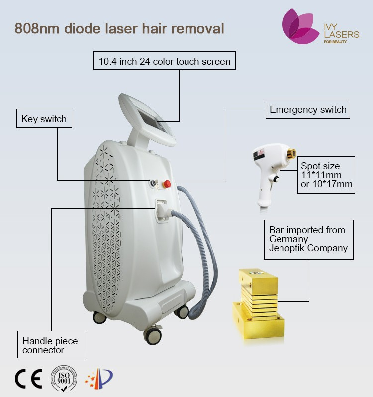 Professional stationary salon beauty equipment 808nm hsr laser hair removal machine