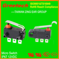 waterproof micro switch 12v, greetech zing ear 40t85 12vdc mini waterproof dpdt toggle switch on off