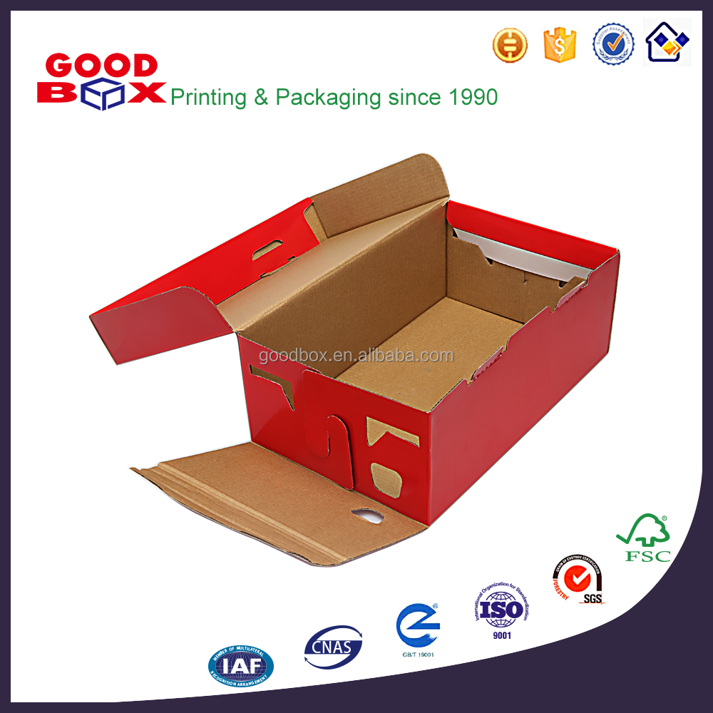 Wholesale eco-friendly customized high quality paper box packaging for shoes