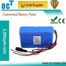 Customized 14.8v 10000mah battery ICR18650-32A 4s3p rechargeable for Breathing machine