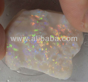 41.5 ct Top Quality Precious Australia Opal Rough with clear huge colour Bar