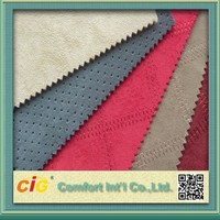 China High Quality 100% Polyester Foam Backed Suede Fabric