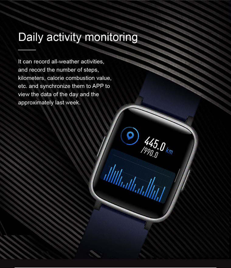 Wholesale Amazon Hot Sale Smart Watch ID205 Heart Rate Veryfit Fitness Tracker Support Multi Language Smart Bracelet
