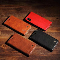 OEM Luxury Leather Wallet Flip Protective Case for iPhone 8