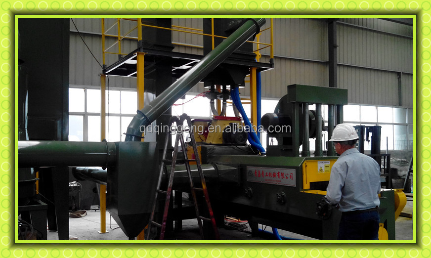 Clay Stone Pavement Surface Cleaning Wheel Blasting Machine