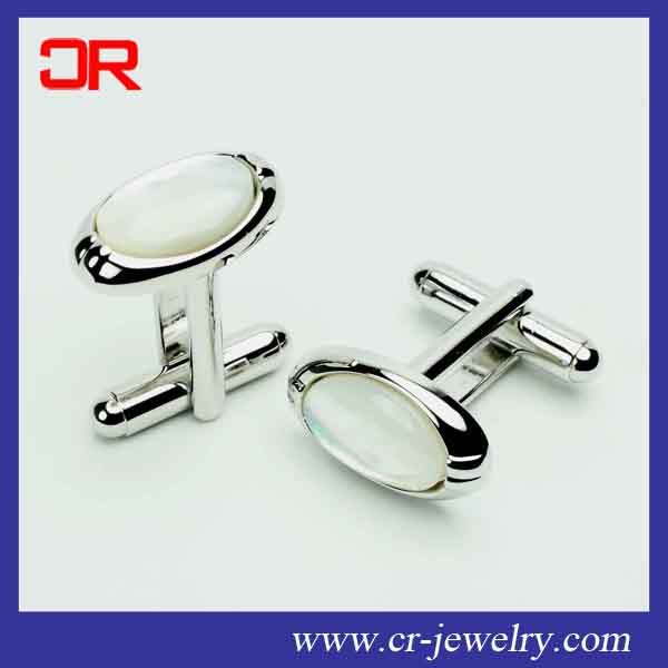 Wedding Party Fashion Simple MOP cufflink Men Sleeve Shirt Cuff links