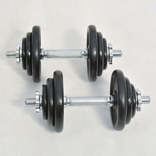 High Quality Deluxe New Style Cast iron painting 30kg adjustable dumbbell weights set