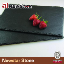 Slate coaster natural black slate plate
