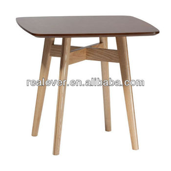Natural foldable square wooden dining table