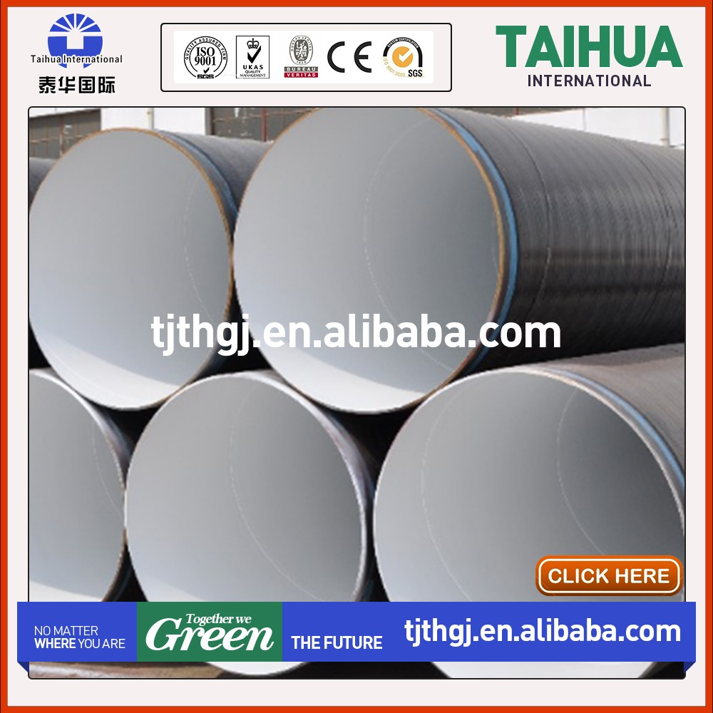 ssaw weld spiral carbon steel pipes with anti corrosion coating with best price