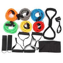 wholesale high <strong>resistance</strong> band work out 11 pcs <strong>resistance</strong> bands set with fabric covered for gym fitness