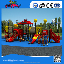 Kids Play Items Plastic Tube Slide and Playhouse Outdoor Playground Equipment for Sale KP16-075A