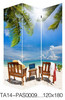 Professional Fuzhou supplier Seascape canvas room divider screen