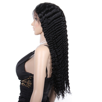 high quality deep wave full lace wig human hair 250 density wig