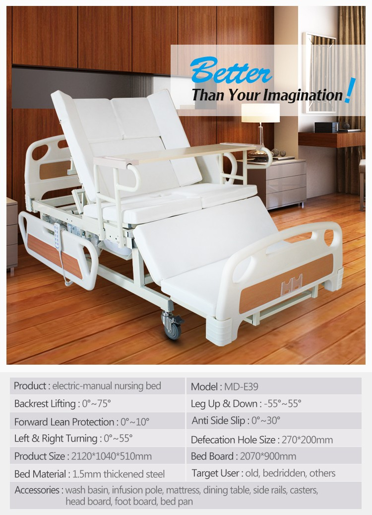 Ce Certificated 3 Functions Electric Hospital Bed With Best