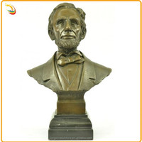 Famous Arts And Crafts Antique Lincoln Bronze Busts For Sale