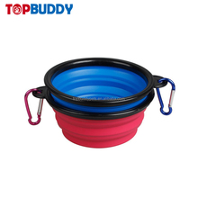 FDA approved collapsible plastic pet water folding dog bowls