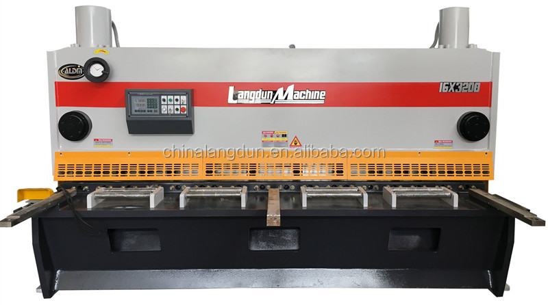 New QC12Y series Hydraulic Guillotine shearing machine or cutting machine foriegn sale