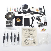 Starter Complete Tattoo Kit 2 Gun Supply Set Equipment Dunhuang Tattoo Machine Body Art
