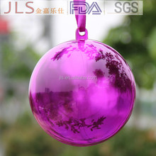 wholesale clear plastic round shape christmas acrylic baubles