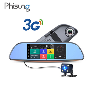 "Phisung H2 7"" 3G GPS navigation bluetooth rearview mirror car dvr HD1080P wifi hotspot car video recorder dash cam"