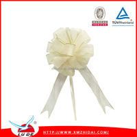 organza pull bow ribbon /gift packing bow ribbon