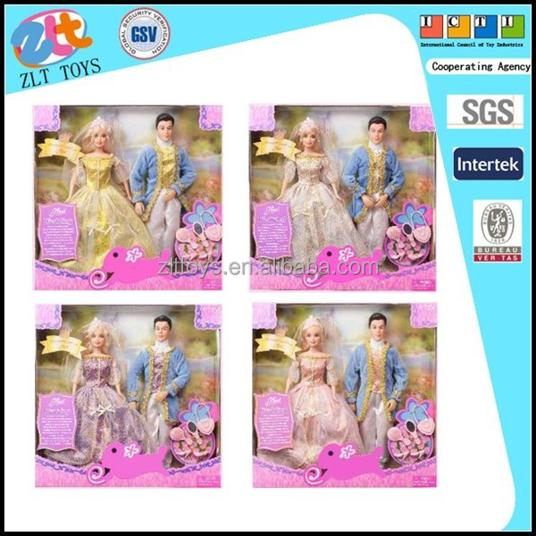 2015 hot sale doll barbie Princess and Prince (four mix)