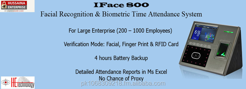 Finger Print Time Attendance System, Iface 800