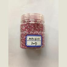 Transparent Decorative Glass Beads with Glitter