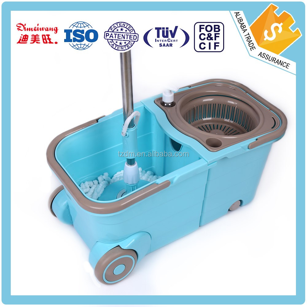 2016 Hot selling 360 Rotating Spin Magic Mop with wheel