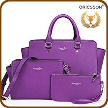New Product China Supplier 3PCS Woman's Bag With Shoulder Bag And Purse
