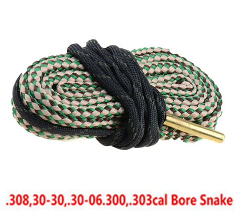 Hunting rifle Cleaning Bore 22 Cal 223 5.56mm. 17 38 284 308.40. 243 6mm, 7mm, 9mm String Boresnake Barrel Rifle