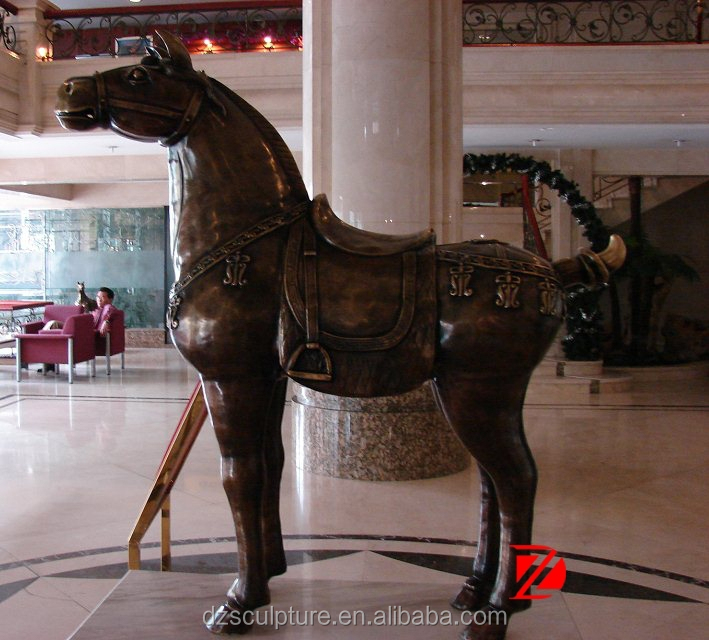 Hot sell large bronze tang horse sculpture for hotel decoration