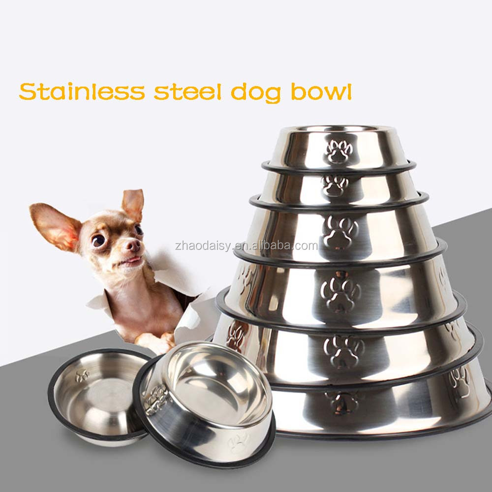 Dogs feeding bowl Stainless Steel Metal Dog Water Bowl