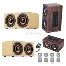 Dual surround High Fidelity super mega bass wireless wood Bluetooth speaker