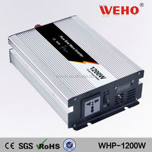 CE RoHS approved 1200w 24v to 110v pure sine wave solar inverter india