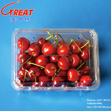 500g disposable clear plastic fruit vegetables container for package with lid