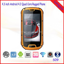 China Low Price City Call IP68 Military Standard Rugged Android Mobile Phone S09 With Walkie Talkie