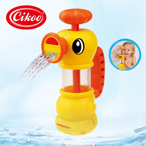 Cikoo 2018 Trending Products Bath Toy Factory Best Selling Kid Toys Bath Duck Water Pump