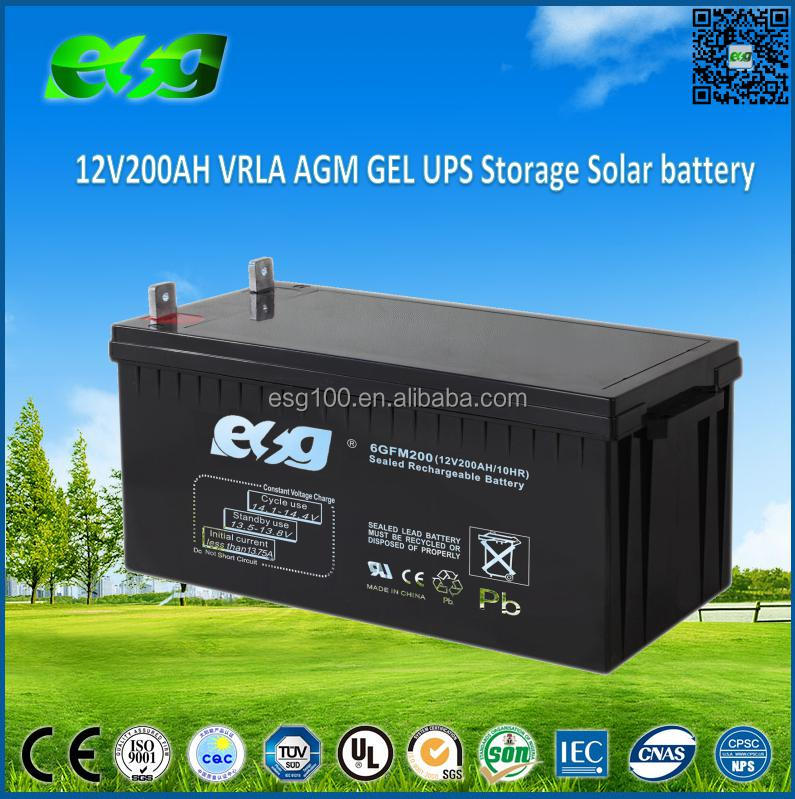 Deep Cycle Solar Energy Storage 12V 200Ah solar battery price