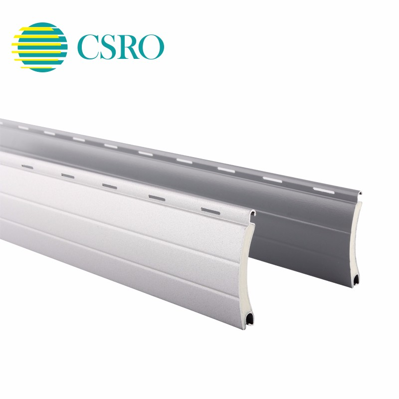 39mm aluminium foam inserted vertical roller shutter window slats