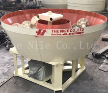 New design gold grinding mill machine double rollers wet pan mill with high efficiency