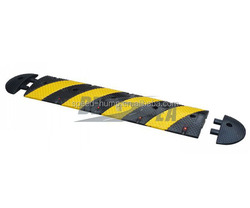 Black & Yellow Rubber 4 Foot Traffic Road Safety Speed Breaker (DH-SP-29)
