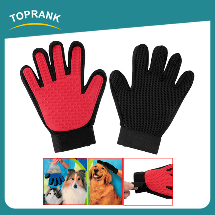 Hot selling silicone dog bath glove brush pet grooming gloves