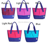 Wholesales young women fashion waterproof handbag for lady nylon shopping tote bag