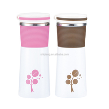 350ml new shape Stainless Steel vacuum thermo bottle with silicone strap from YongKang shiqiang