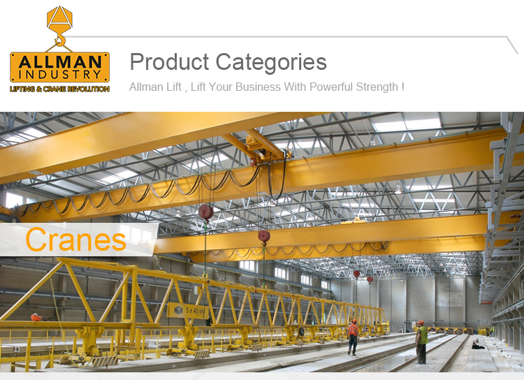 ALLMAN high performance M5/2m class mining used overhead crane hoist