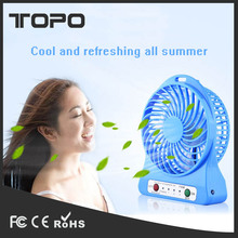 Colorful battery power portable travel handy Super Mute usb small rechargeable mini fan