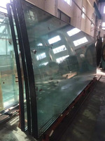 China factory supplier for low iron/extra clear low E jumbo size curved laminated tempered glass