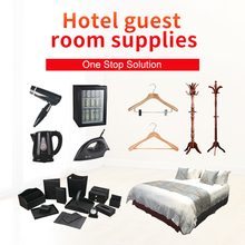 Hotel guest room supplies soap shampoo shower gel and slippers with logo
